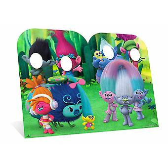 Trolls Can't Stop The Feeling Child Size Cardboard Cutout / Standee Stand-in - Twin Pack