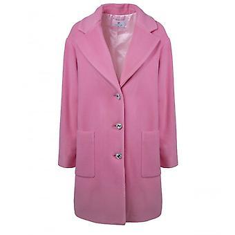 Chiara Ferragni Pink Wool Coat
