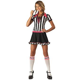 Racy Referee Uniform Sports Umpire Football Soccer Teen Women Costume