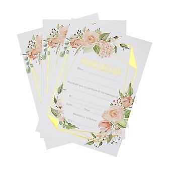 Geo floral - Bryllupsdag invitasjoner