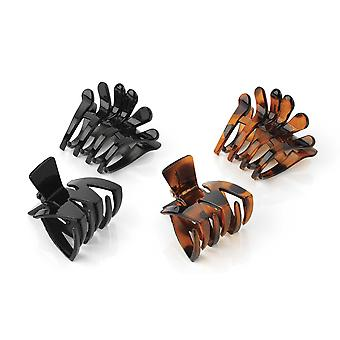 Two Piece Black / Tort Colour Claw Clip Hair Accessory Set