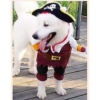 Pet Dogs Cats Costume Suit Comfortable Universal Pirate Pet Dog Costume