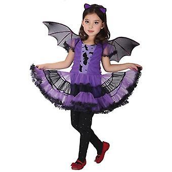 ילדים בנות ליל כל הקדושים עטלף הנסיכה שמלה תלבושות קוספליי