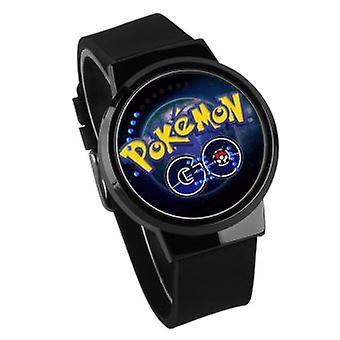 Kinder wasserdichte leuchtende Led Digital Touch Uhr - Pokemon Go