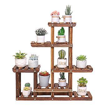 Pflanze Stand kleine Holz Pflanzer Regal für saftige Tabletop Fenster Garten Rack