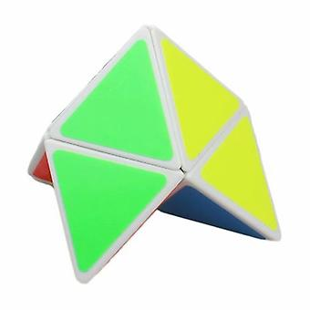 2x2 Triangle Pyramid 2-layer Pyraminx Magic Cube Speed Puzzle Twist Educational Toy White