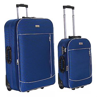 Slimbridge Rennes Set of 2 Expandable Suitcases, Navy