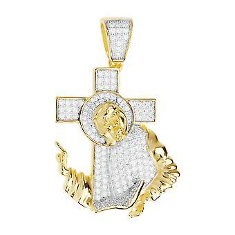 Prime Bling - en argent sterling 925 Jésus Croix pendentif