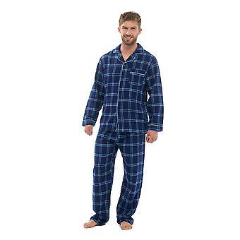 Mens Cotton Yard festett ellenőrizze Pyjama Lounge Wear szett
