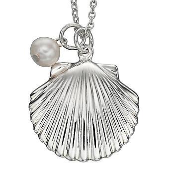 925 zilveren Shell en parel ketting