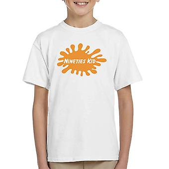 التسعينات طفل تي شيرت نيكلوديون شعار كيد