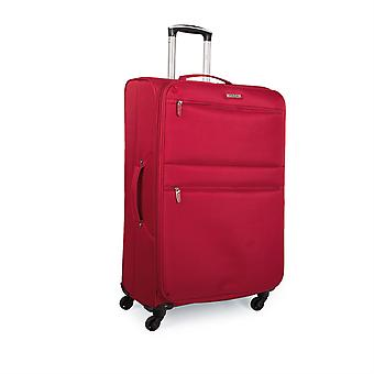 Expandable trolley case suitcase 60Cm medium polyester Eva.  Semi-rigid and very light. Telescoping handle, 2 handles, 4 wheels. Size Media. I52760