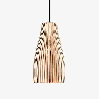 Iumi Ena Cone Shaped Plywood And Birch Pendant Lamp