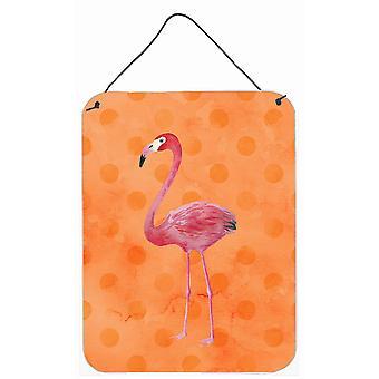 Flamingo Orange Polkadot mur ou une porte suspendue imprime