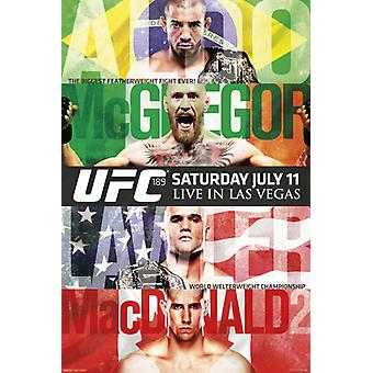 UFC 189 - Aldo vs McGregor Poster Poster Print