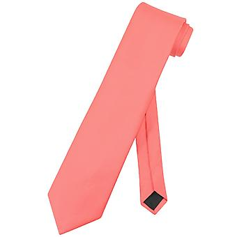 Vesuvio Napoli halsduk Solid EXTRA långa mäns XL hals slips