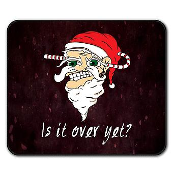 Over yet Santa Christmas  Non-Slip Mouse Mat Pad 24cm x 20cm | Wellcoda