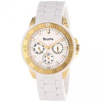 Bulova Ladies' Valkoinen ruostumaton teräs Watch 98N102