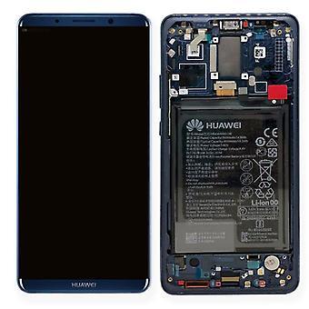 Huawei näyttö LCD-yksikkö + 10 Pro Service Pack 02351RVH sininen kehys ajaksi apulainen