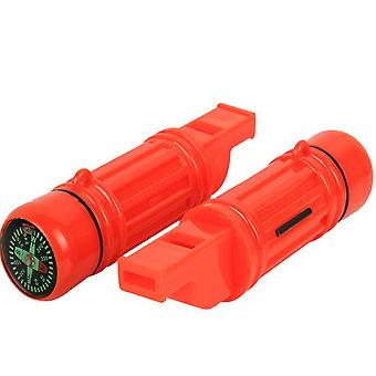 New 5 In 1 Camping Emergency Whistle compass Mirror
