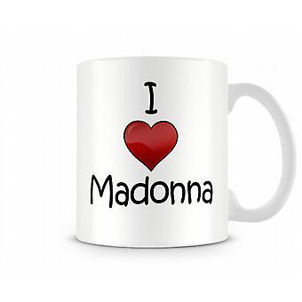 Ik hou van Madonna bedrukte mok