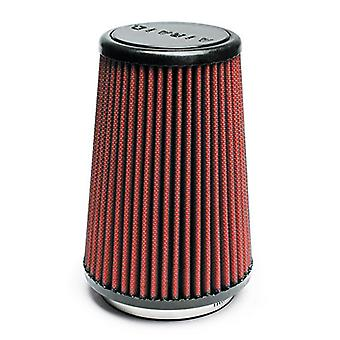 Airaid 700-430 Universal Clamp-On Air Filter: Round Tapered; 3.5 in (89 mm) Flange ID; 7 in (178 mm) Height; 4.625 in (1