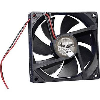 QuickCool QC9225B12H Eksenel fan 12 V DC 100,24 m³/h (L x W x H) 92 x 92 x 25 mm