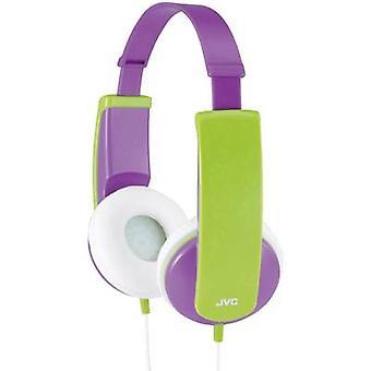 JVC HA-KD5-V-E Children On-ear headphones On-ear Volume limiter, Light-weight headband Purple, Green
