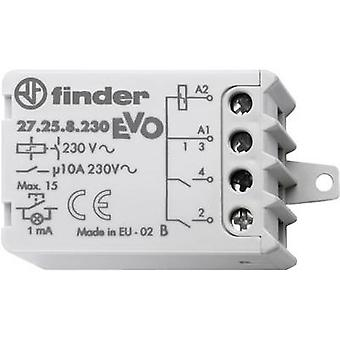 Finder 27.25.8.230.0000 10A Step Relay 27.25.8.230.0000 EVO 230 V AC 2 NO contacts 10 A Max 230 V AC (AC1) Max 2300 VA/(AC15 V) Max 500 VA