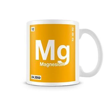 Scientific Printed Mug Featuring Element Symbol 012 Mg - Magnesium