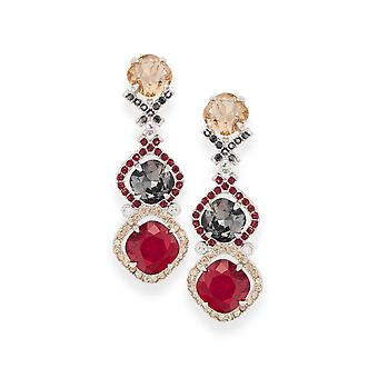 Multicolor earrings with crystals from Swarovski 4815