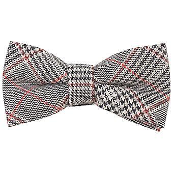 Knightsbridge Neckwear Price of Wales Checked Bow Tie - Black/Beige/Red