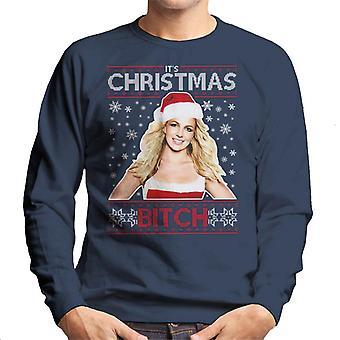 Britney Spears dess jul tik sticka mönster mäns tröja