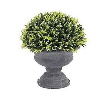 Artificial Squat Urn Potted Greenery Complete