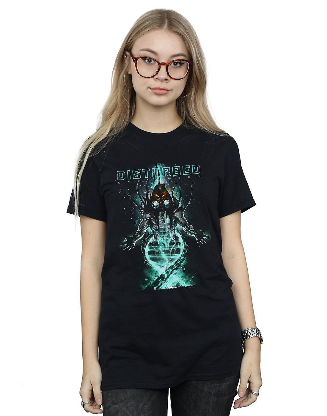 Disturbed Women's Evolving Creature Boyfriend Fit T-Shirt