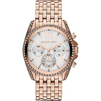 Michael Kors Pressley Ladies Womens Chronograph Gold Wrist Watch MK5836