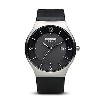 Bering Solar Analog Man with a leather strap 14440-402