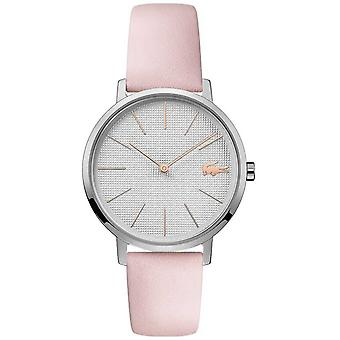 Lacoste | Womens Moon | Pink Leather Strap | Silver Dial | 2001070 Watch