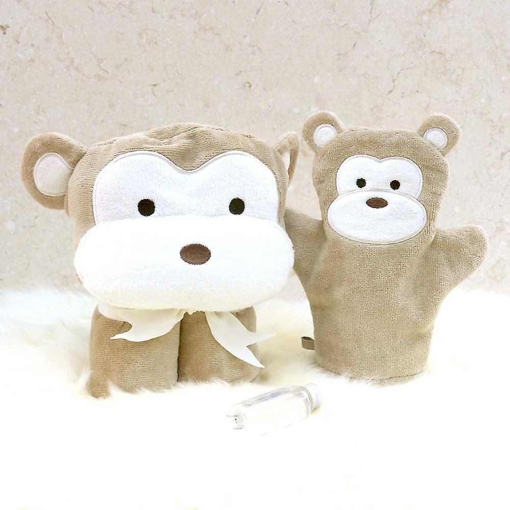 Cheeky Monkey baby towel gift set
