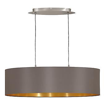 Eglo - Maserlo 2 Lampadario ovale soffitto luce nichel satinato Cappuccino EG31614