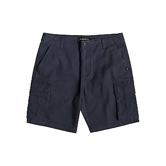 Quiksilver Free Mantle Cargo Shorts in Blue Nights