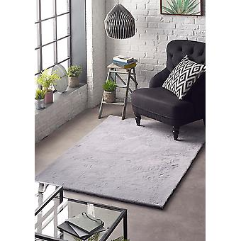 Lustrous Silver  Rectangle Rugs Plain/Nearly Plain Rugs