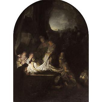 Der Grabstein Christi, Rembrandt, 50x37cm