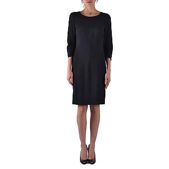 L'arianna Ezbc060088 Women's Black Viscose Dress