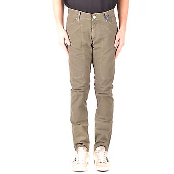 Jeckerson Ezbc069037 Men's Green Cotton Jeans