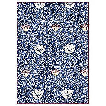 Stamperia Rice Paper A4 Arabesque bleu avec fleurs