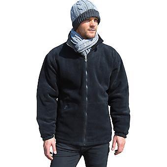 Outdoor Look Mens Core Padded Full Zip Fleece Top Jacket