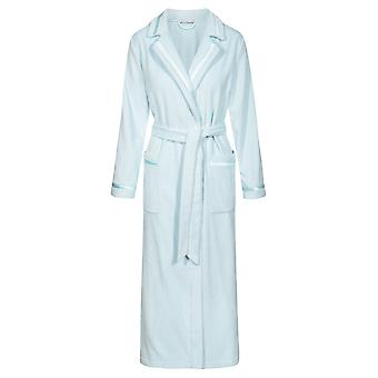 Féraud 3885142-10024 Women's High Class Turquoise Cotton Robe Loungewear Bath Dressing Gown