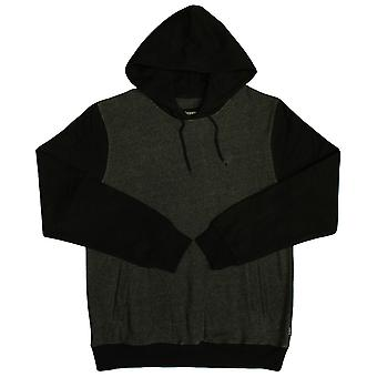 Brixton Malcolm Pullover Hoodie Charcoal Black