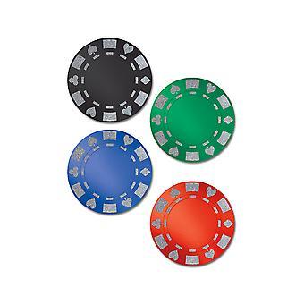 Glitret folie poker chip utskjæringer